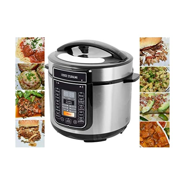 LOUISE STURHLING 10-in-1 Intelligent 6 Qt Pressure Cooker, 14 Programmed Menus, 7 Safety Features, High-Grade Stainless… 1