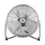 Floor Fan High Speed, 3 Speed, 18 Inch / 45 cm, 120 Degrees Vertical tilt, Chrome Finish