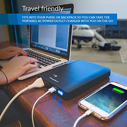 Portable AC Outlet Battery Pack by ChargeTech - 27000mAh 85W / 110V (TSA Approved for Airline Travel) - External Power Bank Charger for MacBooks, Laptops, Cameras, Camping, CPAP Machines [BLACK]
