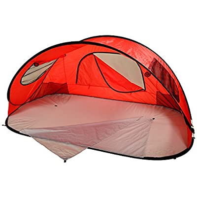 Picnic at Ascot Extra Large Instant Easy Beach Tent Sun Shelter - Red