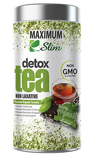 MaximumSlim Detox Tea- Best Organic Slimming Tea on Amazon - Boosts Metabolism, Reduces Bloating and Improves Complexion - 100% Natural , Delicious Taste