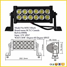 10 inch LED Bar Light Off Road Application Work Light 36W 6000K IP67 Pack Of Two piece Price $90.00 Cad 1 Piece Will Cost $45.00 Cad Canadian Company Canadian Stock