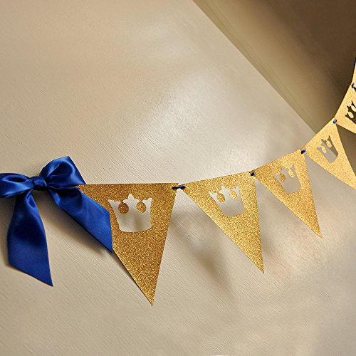 Royal Prince Baby Shower Bunting Banner. King Crown Garland.