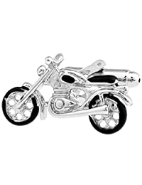 LBFEEL Classic Motorcycle Cufflinks for Mens Shirt with a Gift Box