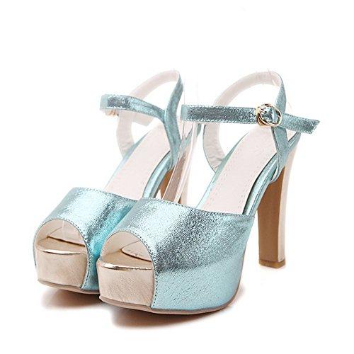 Adee , Damen Sandalen, Blau - schwarz - Größe: 34