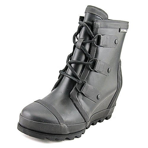 Women's Sorel Joan Wedge Rain Boot, Size 9 M - Black