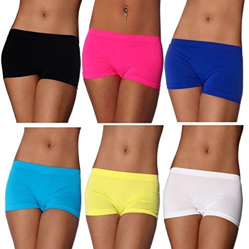 Confezione da Slip donna donne Boxer nel retro style Vari Modelli. Hot Pants Panty. Lingerie Hipster grande qualit
