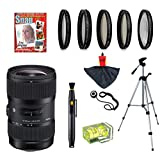 Sigma 18-35mm F1.8 DC HSM ART Lens with UV, CPL, FLD, ND4, +10 Macro Filters and Bundle for Canon EOS 70D, 60D, 60Da, 50D, 7D, 6D, 5D, 5Ds, Rebel T6s, T6i, T5i, T5, T4i, T3i, T3, T2i and SL1 Digital SLR Cameras