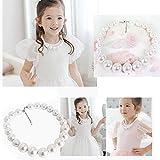 WELLKAGE Handmade Children Jewelry Big Pearl Necklace For Baby Girl Kids