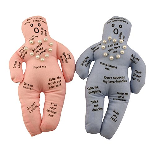 Husband and Wife Voodoo Dolls (Voodoo Doll Toy)