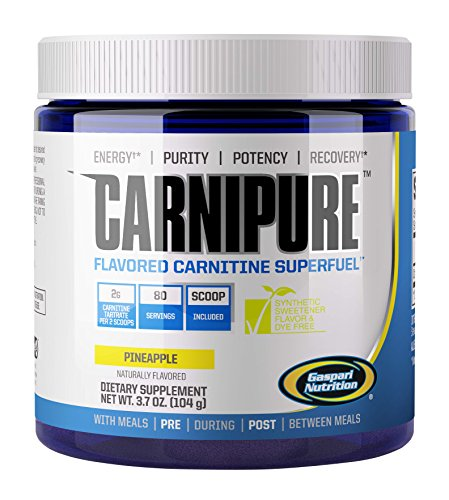 Gaspari Nutrition Carnipure Supplement, Pineapple, 3.7 Ounce