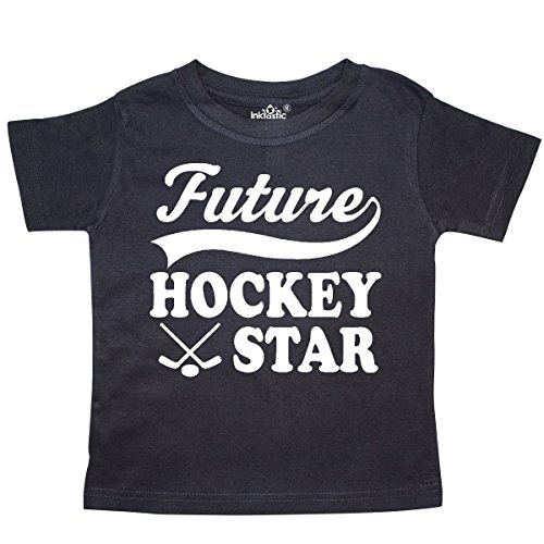 - inktastic - Future Hockey Star Childs Sports Toddler T-Shirt 3T Black 2696e