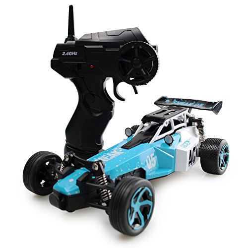 RC Car Electric Racing Buggy – High Speed Remote Control Truck Off-Road Rock Crawler 1/24 Scale(Blue)