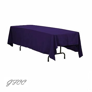 GFCC 70 X 120  Inch Purple Rectangular Tablecloth