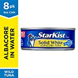 StarKist Solid White Albacore Tuna in Water, 5 oz. Can, Pack of 8