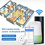 Smart Plug 2 Pack Wi-Fi Enabled Mini Smart Socket Compatible with Amazon Alexa Google Home, Remote Control Outlet with Timing Function