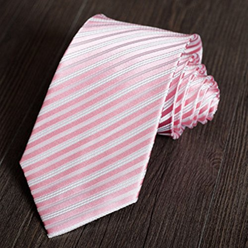 Tie Professional Striped Yamyannie Pale Groom Pure Tie Wedding Business Decorative pink Classic Tie Tie Suit Silk Wedding Men's qg1EF1
