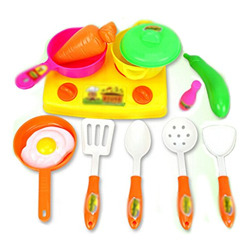 Kitchen Food Cooking Utensils House Role Play Pretend Toy Baby Child Educational Toy 13pcs/set