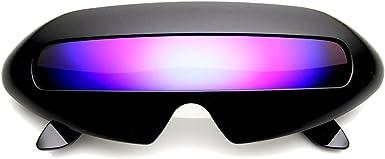 Men/'s Futuristic  Shield Color Mirror Lens Wrap Sunglasses Costume