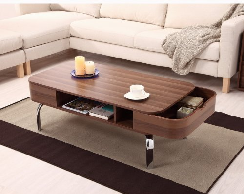 Furniture of America Lawson Modern 2-Drawer Coffee Table - Cool Coffee Table: Amazon.com