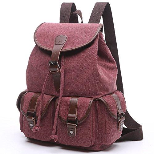 BAOSHA LP-13 Vintage Canvas Casual Daypack Laptop Backpack College Campus  School Bags for Women 0de68676829fb