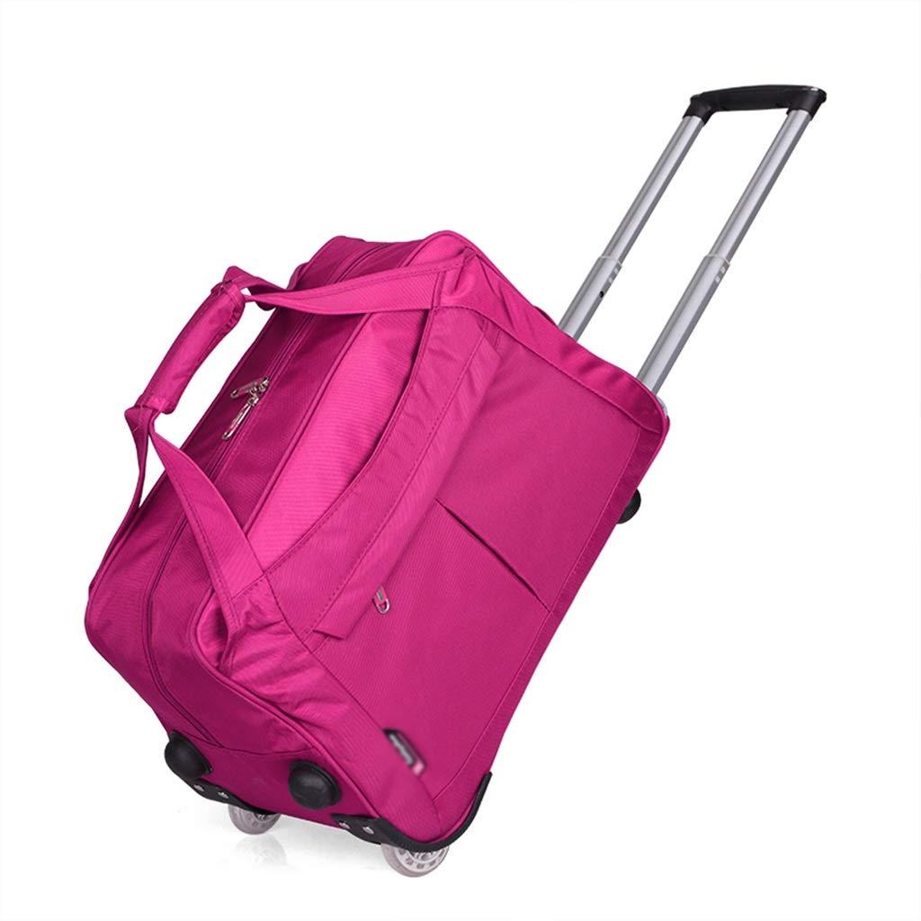 出張用トロリーバッグ、ローラーバッグのデザイン高容量機内持ち込み手荷物パッケージ旅行防水荷物バッグ (色 : ローズレッド, サイズ さいず : 54*30*35cm) B07SCPMXNK ローズレッド 54*30*35cm
