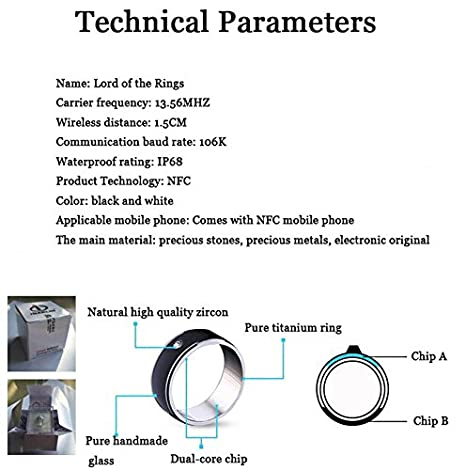 Amazon.com: NFC Smart Ring Titanium Steel Phone NFC chip ...