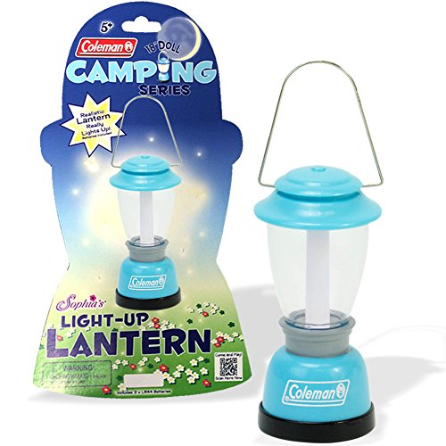 Top Aqua Coleman Doll Lantern Accessory by Sophia's, Perfect for the 18 Inch Camping American Girl Dolls & More! Doll Sized Lantern in Aqua Licensed By Coleman, Doll Items of 18 Inch Doll free shipping