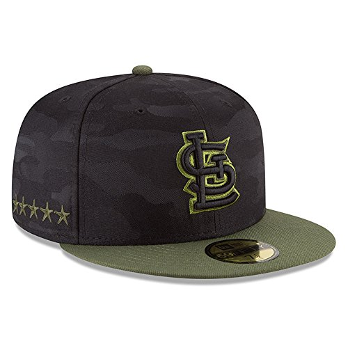 New Era St. Louis Cardinals 2018 Memorial Day 59FIFTY On Field Fitted Hat 7 (Cardinals Camo)