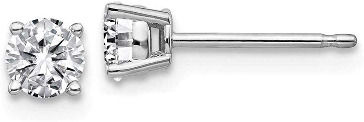 3.00 Carat Classic 14k Solid White Gold 4 Prong Moissanite Studs