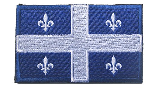 QUEBEC CANADA Flag with Fastener Velcro Patch