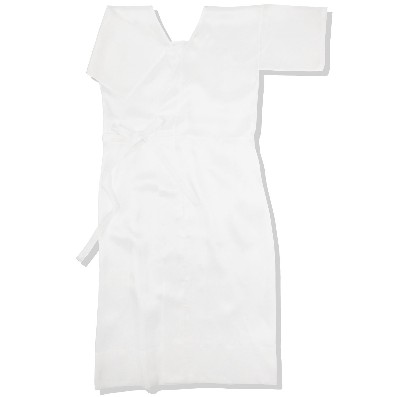 正絹 肌襦袢 シルク スリップ 白色 M L サイズ ワンピース 美しく 軽く 心地良い 肌触り B00RC706OE   Lサイズ