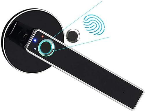 Fingerprint Door Lock, Smart Door Lock, Home Security Door Lock, Smart Electronic Bedroom Wooden Door Office Room Door for Office Home Silver 1 Pack