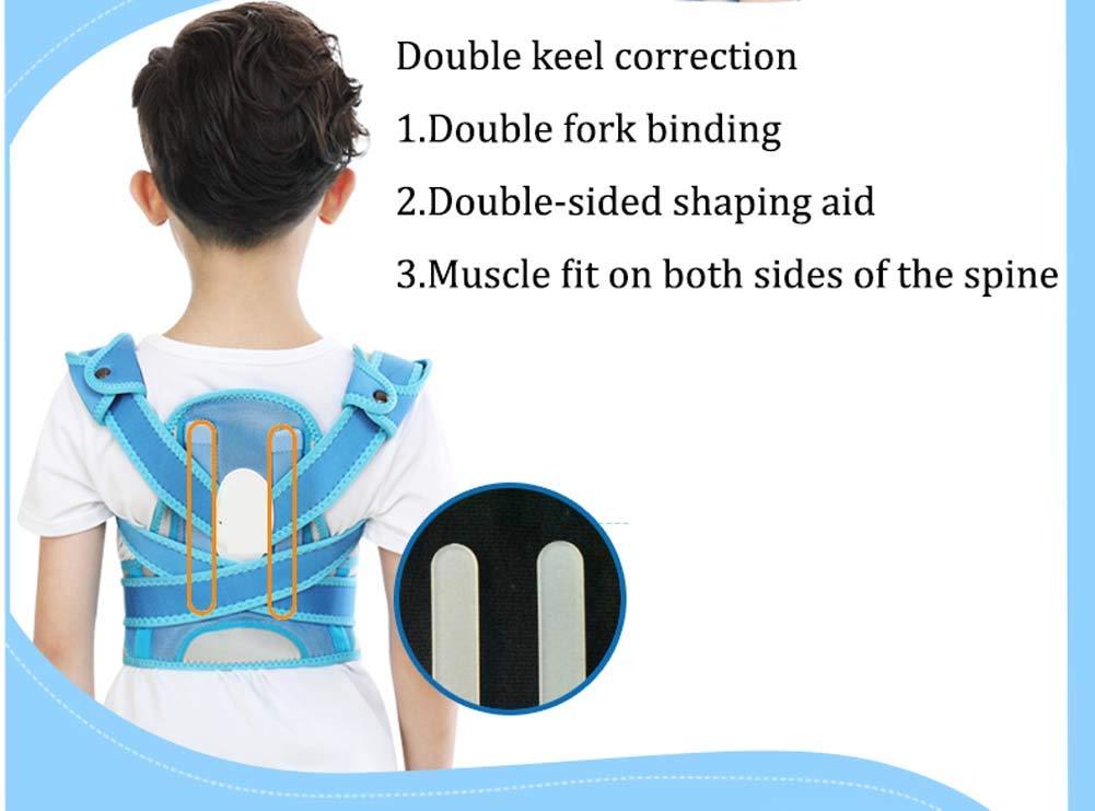 YSHS Anti-Humpback Correction Belt - Back Sitting Spine Correction Clothing Student Child Stealth Correction Prevention Myopia,Blue,L by YSHS (Image #3)