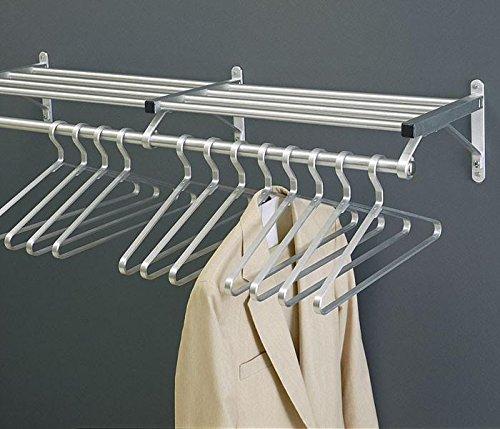 Glaro 500-SA-84 Wall Mounted coat Rack with Shelf and Hanger Bar