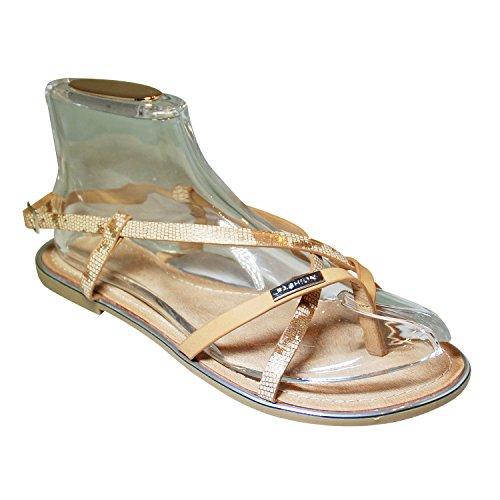 Juliet - Pantuflas Mujer dorado