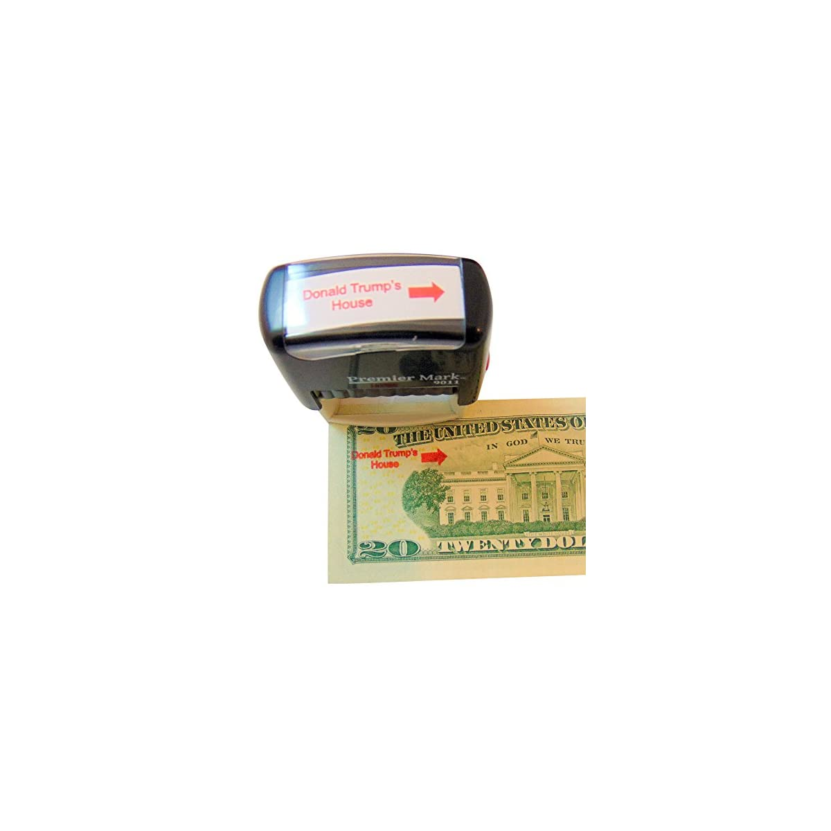 Westman Works Donald Trump's House Self Inking Rubber Stamp with Red Ink and Arrow