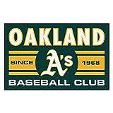 FANMATS 18478 Oakland Athletics Baseball Club Starter Rug