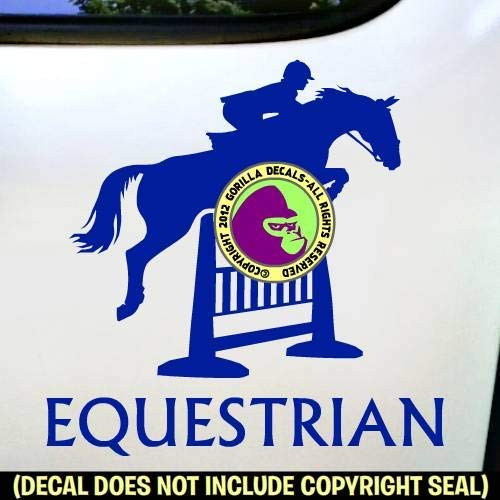 EQUESTRIAN Hunter Jumper Horse Rider Vinyl Decal Sticker A