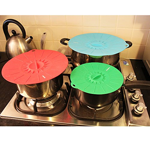 Lockhart Silicone Lids | Set of 5 Lid Covers| Fits Various Sizes of Pans, Bowls, Containers and Cups