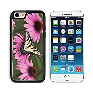 Tiger Swallowtail Butterfly Purple Coneflower Apple iPhone 6 TPU Snap Cover Premium Aluminium Design Back Plate Case Customized Made to Order Support Ready Liil iPhone_6 Professional Case Touch Accessories Graphic Covers Designed Model Sleeve HD Template by lolosakes