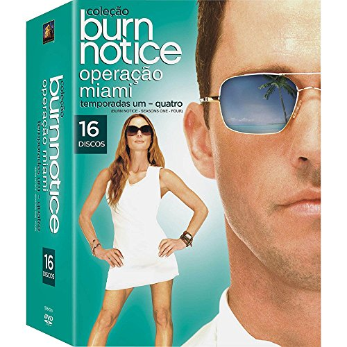 DVD Burn Notice Operação Miami [ Season 1-4 ] [ 16 Disc-Set ] [ Subtitles in English + Spanish + Portuguese ] [ Region 1 + 4 ] -  MATT NIX, GABRIELLE ANWAR