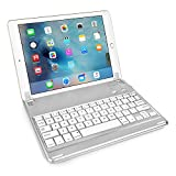 Caseflex Ultra Thin iPad Air 2 / iPad Air Bluetooth Keyboard with Magnetic Grip, And Adjustable Holding Stand