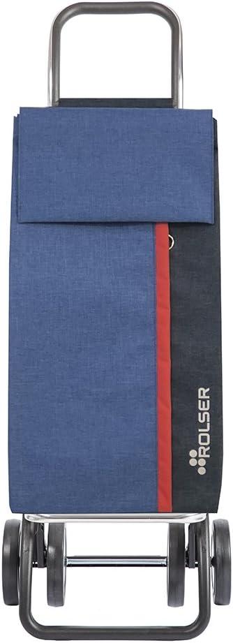 Rolser Carro de Compra Kangaroo KAN002//BL Tweed Dos+2 Color Azul 390x310x1050mm