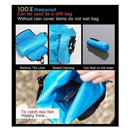 Jhua Fahrrad Lenkertaschen Wasserdicht MTB Front Tube Korb Pannier Zubehör Große Kapazität Abnehmbare Fahrradtaschen 3-7L Blau