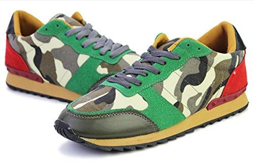 CSDM Uomini Nuovi sport di moda di svago Passeggiare Scarpe casuali Oro Bianco Nero Verde , green , 41