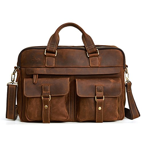 TOREEP Men's Leather Business Bags Briefcases by TOREEP