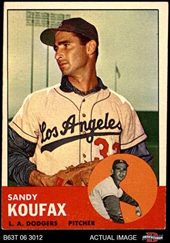 - 1963 Topps # 210 Sandy Koufax Los Angeles Dodgers (Baseball Card) Dean's Cards 4 - VG/EX Dodgers