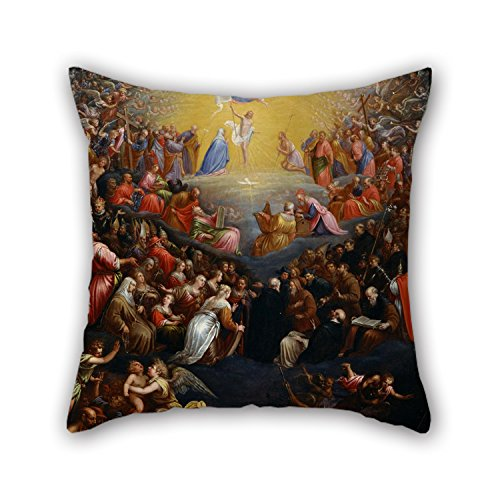 Loveloveu Oil Painting Leandro Bassano - The Last Judgement Valentine Day Pillowcase 20 X 20 Inches / 50 By 50 Cm Gift Or Decor For Shop Bedding Teens Drawing Room Family Kitchen - Twice Sides