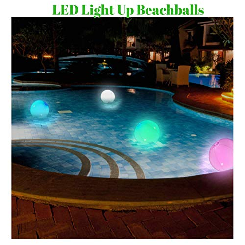 (Paradise Treasures Light up Beach Ball with Color Changing)